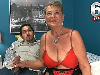 big tits granny handjob at YES PORN PLEASE
